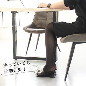オフィス サンダル レディース 黒 美脚 日本製 本革|kutsu-nishimura|05