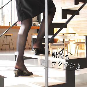 オフィス サンダル レディース 黒 美脚 日本製 本革|kutsu-nishimura|08