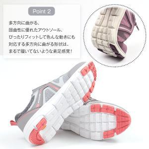 スニーカー レディース 靴 女性 ローカット ダンロップ DUNLOP DC423 軽量設計 屈曲性 幅広設計 ワイズ 4E|kutsu-nishimura|04