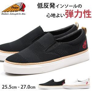 スニーカー メンズ インディアン スリッポン 靴 低反発 インソール クッション 弾力性 快適 履きやすい indian IND-11505|kutsu-nishimura