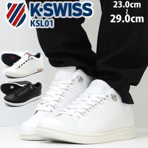 ケースイス スニーカー メンズ レディース ローカット 白 シンプル トリコ おしゃれ K-SWISS KSL01|kutsu-nishimura