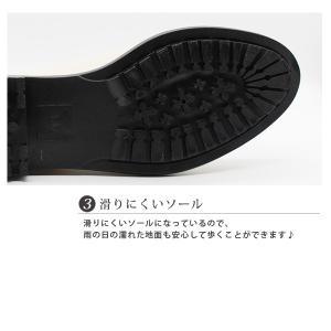 レイン ブーツ ショート レディース 長靴 雨靴 黒 防水 サイドゴア|kutsu-nishimura|05