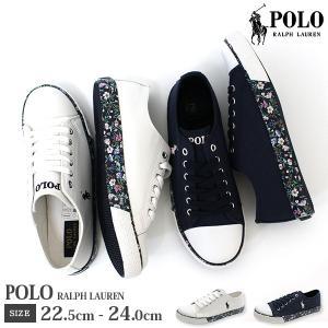 ポロ スニーカー 子供 キッズ ジュニア ローカット 靴 人気 定番 花柄 使いやすい ホワイト ネイビー 白色 紺色 普段履き POLO RALPH LAUREN SLONE|kutsu-nishimura