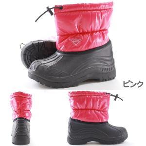 ダウンブーツ 子供 キッズ ジュニア 長靴 シンプル おしゃれ ボーイズ ガールズ 男子 女子 カジュアル ピンク フリース 防寒 軽量 履き口絞れる 防水 迷彩|kutsu-nishimura|05