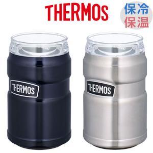 保冷缶ホルダー タンブラー サーモス THERMOS ROD-002 350ml缶用 ステンレス 保...