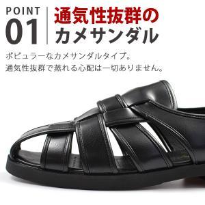 ウィルソン カメ サンダル メンズ 室内履き 通気性 幅広 3E Wilson 3600|kutsu-nishimura|02