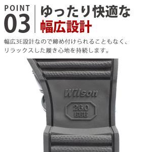 ウィルソン カメ サンダル メンズ 室内履き 通気性 幅広 3E Wilson 3600|kutsu-nishimura|04