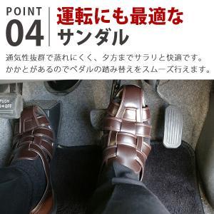 ウィルソン カメ サンダル メンズ 室内履き 通気性 幅広 3E Wilson 3600|kutsu-nishimura|05