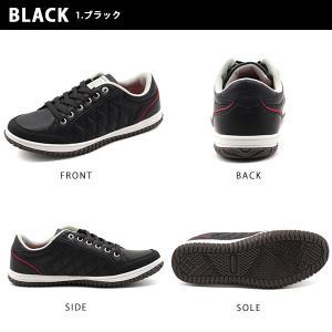 スニーカー メンズ おしゃれ 黒 白 ローカット キルティング|kutsu-nishimura|11