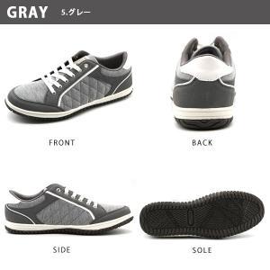 スニーカー メンズ おしゃれ 黒 白 ローカット キルティング|kutsu-nishimura|16