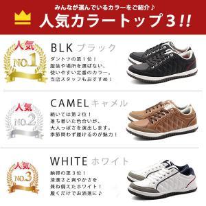 スニーカー メンズ おしゃれ 黒 白 ローカット キルティング|kutsu-nishimura|10