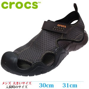 CROCS クロックス サンダル 29cm 30cm 31cm Swiftwater Sandal メンズ 大きいサイズ 15041-22Z|kutsunohikari
