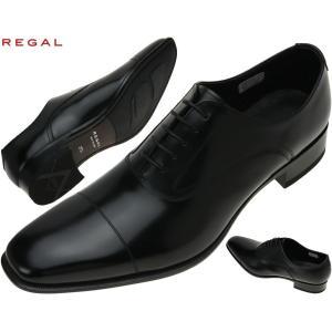 REGAL(リーガル)スクウェアトゥ ストレートチップ 【725R】 セミマッケイ式 日本製 725R BJEB BL 28cm 725アール ビージェイイビー 大きいサイズ メンズ 靴|kutsunohikari