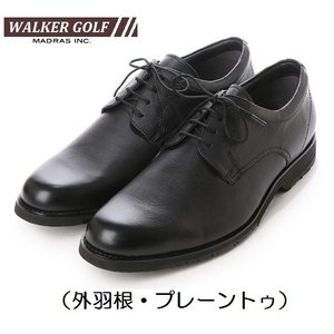 Walker Golf マドラスゴルフ ビジネスシューズ 本革 冠婚葬祭 フォーマル WG200 3Eモデル 外羽根 プレーントゥ|kutunchi