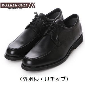 Walker Golf マドラスゴルフ ビジネスシューズ 本革 WG201 3Eモデル ビジカジ 外羽根 Uチップ|kutunchi