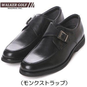 Walker Golf マドラスゴルフ ビジネスシューズ 本革 WG202 3Eモデル ビジカジ モンクストラップ|kutunchi
