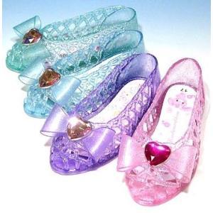 キッズ ガラスの靴 クリアサンダル サンリオ ラメ SA-09118|kutunchi