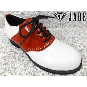 JADE ジェイド JDS3511 ホワイト/レッド│婦人 22.5cm〜24.5cm|kutuya