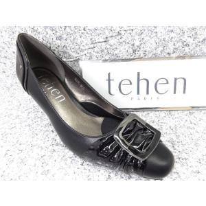 tehen テン TN1601 ブラック│婦人 22.0cm〜25.0cm|kutuya