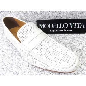 MODELLO VITA madras モデーロ・ビータ VT5681 ホワイト│紳士 24.0cm〜27.0cm|kutuya