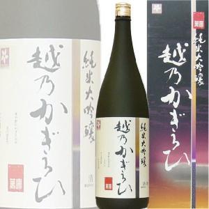 越乃かぎろひ 萬寿 純米大吟醸 720ml (新潟県 朝日酒造)|kuwaharasyoten