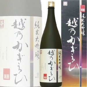 越乃かぎろひ 萬寿 純米大吟醸 1800ml(新潟県 朝日酒造)|kuwaharasyoten