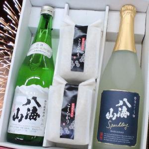 お歳暮 八海山 日本酒 米 ギフト 八海山にごり酒 八海山特別純米酒 新米 魚沼産 お米 セット|kuwaharasyoten