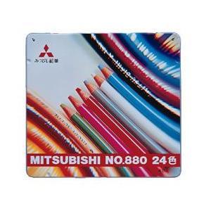 【鉛筆名入れ無料サービス】 三菱鉛筆 定番の色えんぴつ 24色 K88024CP|kuwauchi