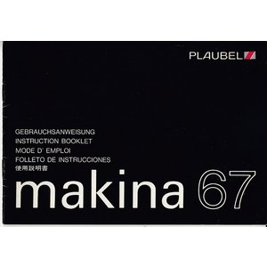 Makina  プロウベルマキナ 67  の取扱説明書/オリジナル版/多言語/'80.10(中古美品)|kwanryudodtcom
