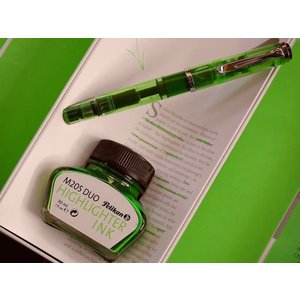 【送料無料】Pelikan ペリカン万年筆 H205 DUO Shiny Green(極美中古)|kwanryudodtcom