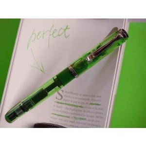 【送料無料】Pelikan ペリカン万年筆 H205 DUO Shiny Green(極美中古)|kwanryudodtcom|02