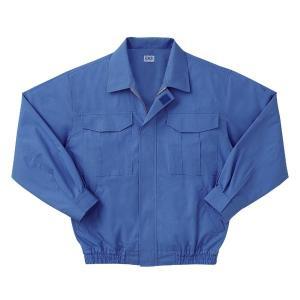 空調服 綿薄手長袖作業着 M-500U 〔カラーライトブルー: サイズM〕 電池ボックスセット|kwelfare