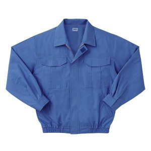 空調服 綿薄手長袖作業着 M-500U 〔カラーライトブルー: サイズL〕 電池ボックスセット|kwelfare