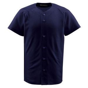 デサント(DESCENTE) フルオープンシャツ (野球) DB1010 ネイビー XA|kwelfare