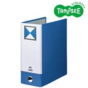 (まとめ)片開きパイプ式ファイルKJ(指かけ穴付) A4-S 100mmとじ 青 30冊 kwelfare