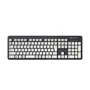 (まとめ) ロジクール Washable Keyboard USB接続 グレー K310 1台 〔×2セット〕 kwelfare