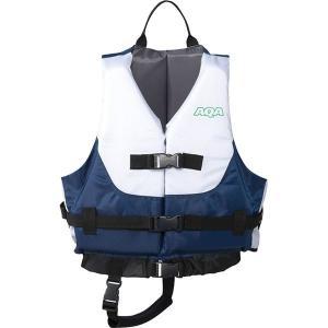 AQA(アクア) ライフジャケットキッズIII ホワイト×ネイビー KA9021|kwelfare