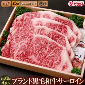 ブランド 和牛 サーロイン ステーキ 4枚x約200g |同梱用| セール お中元 食べ物 国産 肉|kwgchi