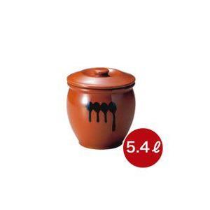 メーカー直送・代引不可 蓋付半胴瓶 3号 漬け物つぼ 紅星窯 5,4L J-3|kwtdi