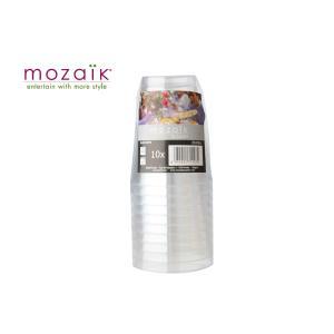 mozaik モザイク クリアタンブラー 8oz 230ml10個入り MZCT8CL|kwtdi