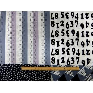 金亀糸業 シーチング生地 布 パッチワーク柄 コットン SLG001 107cm巾 綿100% 商用利用可能
