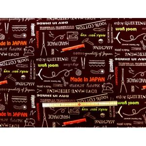 金亀糸業 シーチング生地 布 ソーイング ハンドメイド柄 SLG002 107cm巾 綿100% 商用利用可能
