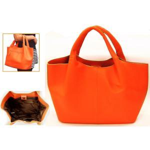 在庫限り手提げかばん ハンドバッグ 43051−60 オレンジ|ky-yoshikawa