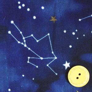 コッカ ダブルガーゼ生地 布 WATER COLOR 夜空 宇宙柄 月 星 星座 YKA−66010−2D 商用利用可能 ky-yoshikawa