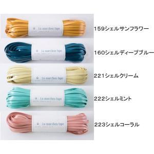 ラメルヘンテープ シェルタイプ 5mm巾×30mカセ巻 塩化ビニル99% ポリエステル1% スリット糸に使用 ネコポス発送不可 ky-yoshikawa