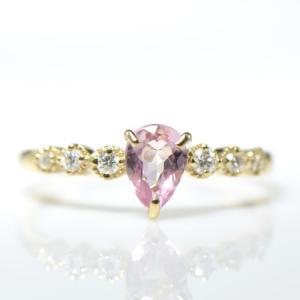 ◆主石名:インペリアルトパーズ ◆脇石名:ダイヤモンド(約 0.09cts) ◆主石サイズ:約4.3...