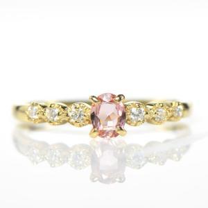 ◆主石名:インペリアルトパーズ ◆脇石名:ダイヤモンド(約 0.09cts) ◆主石サイズ:約3.5...