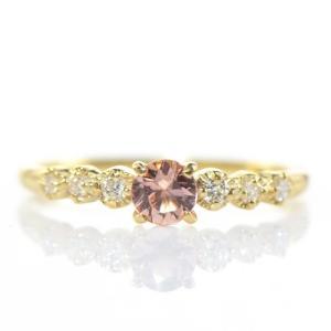 【素材/サイズ】 ◆主石名:インペリアルトパーズ ◆脇石名:ダイヤモンド(約 0.09cts) ◆主...