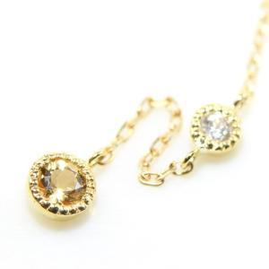 【素材/サイズ】 ◆主石名:インペリアルトパーズ ◆脇石名:ダイヤモンド(約2mm 0.03cts)...