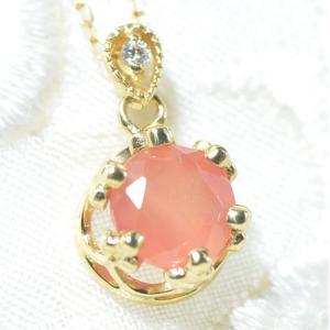 【素材/サイズ】 ◆主石名:ロードクロサイト ◆脇石名:ダイヤモンド(約1.5mm 0.01cts)...